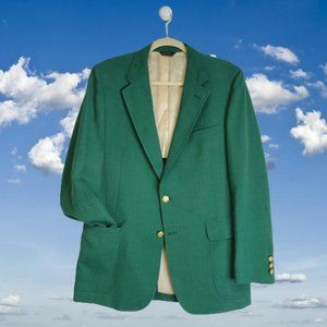 Vtg CRICKETEER Green Masters Jacket Blazer 38R